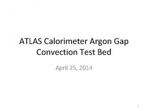 ATLAS Calorimeter Argon Gap Convection Test Bed April