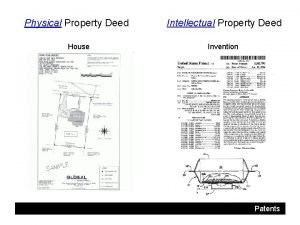 Physical Property Deed House Intellectual Property Deed Invention