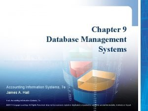 Chapter 9 Database Management Systems Accounting Information Systems
