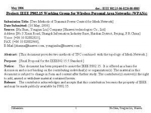 May 2006 doc IEEE 802 15 06 0226