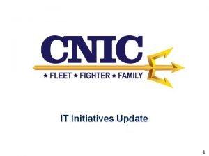 IT Initiatives Update 1 IT Initiatives 2016 POS