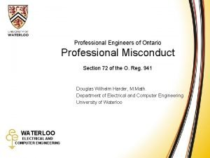 Professional Misconduct Professional Engineers of Ontario Professional Misconduct