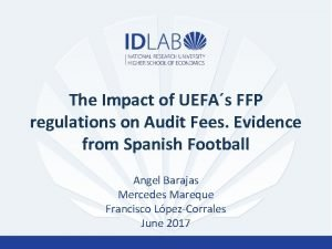 The Impact of UEFAs FFP regulations on Audit