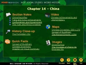 Chapter 14 China Section Notes Video China Reunifies