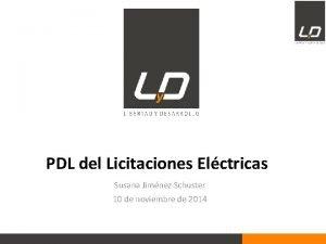 PDL del Licitaciones Elctricas Susana Jimnez Schuster 10
