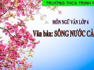 TRNG THCS TRNH P NHC LI KIN THC