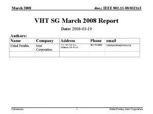 March 2008 doc IEEE 802 11 080321 r