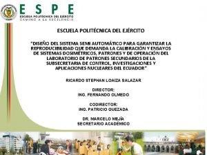 ESCUELA POLITCNICA DEL EJRCITO DISEO DEL SISTEMA SEMI