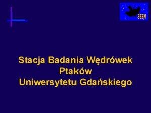 Stacja Badania Wdrwek Ptakw Uniwersytetu Gdaskiego Stacja Badania