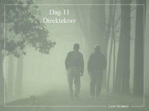 Dag 11 Direktekrav Lasse Simonsen 1 Innledning Problemstillingen
