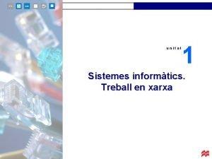 unitat 1 Sistemes informtics Treball en xarxa unitat