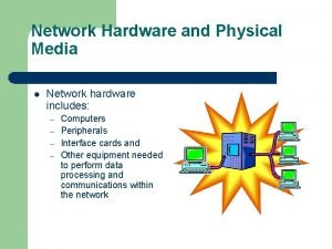 Network Hardware and Physical Media l Network hardware