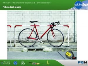 Innovative Prventionsstrategien zum Fahrraddiebstahl Fahrradschlsser Innovative Prventionsstrategien zum