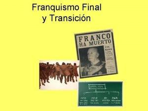 Franquismo Final y Transicin Primer Franquismo Aos 40