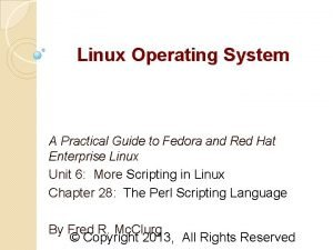 Linux Operating System A Practical Guide to Fedora