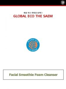 GLOBAL ECO THE SAEM Facial Smoothie Foam Cleanser