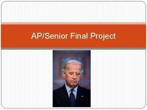 APSenior Final Project APSenior Project Your senior project