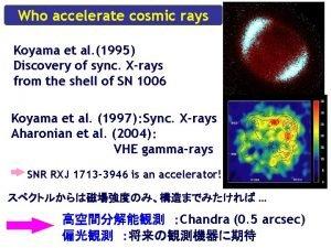 Who accelerate cosmic rays Koyama et al 1995