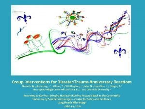 Group Interventions for DisasterTrauma Anniversary Reactions Nemeth D