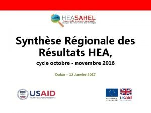 Synthse Rgionale des Rsultats HEA cycle octobre novembre
