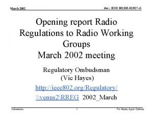 doc IEEE 802 RR02027 r 1 March 2002