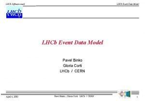 LHCb Software week LHCb Event Data Model Pavel