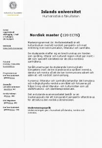 Islands universitet Humanistiska fakulteten Kontor Hugvsindasvi Aalbygging 3