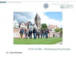 Seite 1 Fit fr die Bib Psychologie Fit