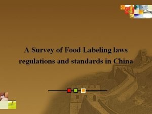 A Survey of Food Labeling laws regulations and