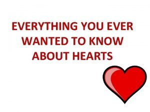 EVERYTHING YOU EVER WANTED TO KNOW ABOUT HEARTS