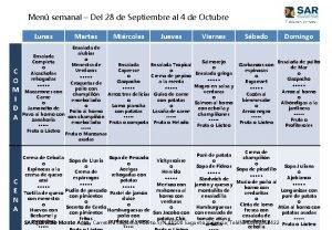 Men semanal Del 28 de Septiembre al 4