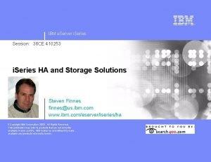 IBM e Server i Series Session 36 CE