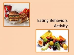 Eating Behaviors Activity Which pattern of eating patterns