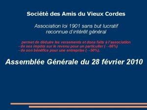 Socit des Amis du Vieux Cordes Association loi