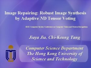 Image Repairing Robust Image Synthesis by Adaptive ND