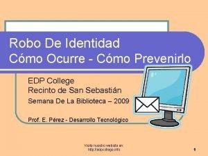 Robo De Identidad Cmo Ocurre Cmo Prevenirlo EDP