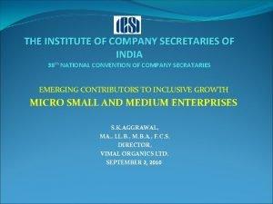 THE INSTITUTE OF COMPANY SECRETARIES OF INDIA 38