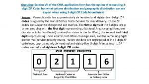 Question Section VII of the CHIA application form