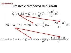Pripomeme si Reazenie predpoved budcnosti Poiaton stav t0