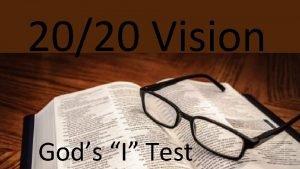 2020 Vision Gods I Test 2020 Vision Gods