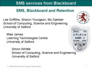 SMS services from Blackboard SMS Blackboard and Retention