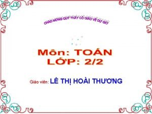 Gio vin L TH HOI THNG Th by
