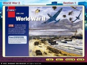 World War II Section 1 World War II