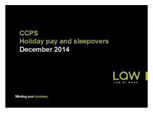 CCPS Holiday pay and sleepovers December 2014 Holiday