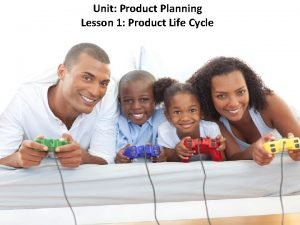 Unit Product Planning Lesson 1 Product Life Cycle
