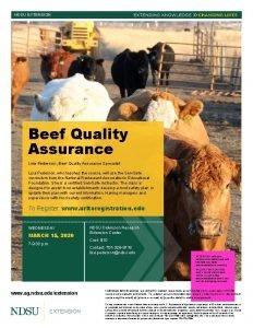 NDSU EXTENSION Beef Quality Assurance Lisa Pederson Beef