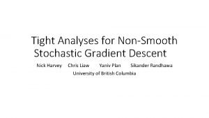Tight Analyses for NonSmooth Stochastic Gradient Descent Nick