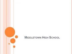 MIDDLETOWN HIGH SCHOOL IVE GOT A PLAN A