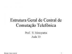 Estrutura Geral de Central de Comutao Telefnica Prof