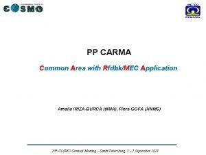 PP CARMA Common Area with RfdbkMEC Application Amalia